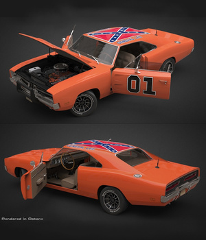 DODGE CHARGER THE GENERAL EXTENDED LICENSE 3D Game Models : OBJ : FBX 3D Models Extended Licenses Nationale7