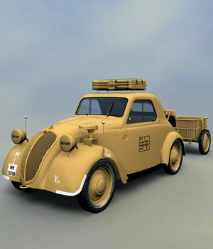 FIAT TOPOLINO LIGHT STAFF EXTENDED LICENSE 3D Models Extended Licenses 3DClassics
