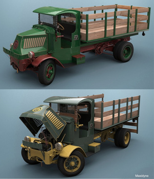 MACK AC 1935 STAKE BED EXTENDED LICENSE 3D Models Extended Licenses 3DClassics