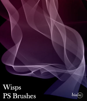 Wisps PS Brushes 2D Graphics biala
