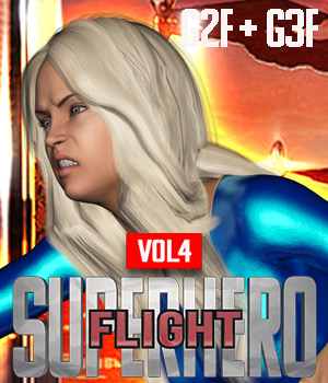 SuperHero Flight for G2F & G3F Volume 4 3D Figure Assets GriffinFX