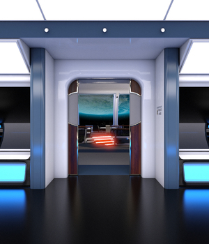 Collective3d Movie Sets Starship Lounge 3D Models Collective3d