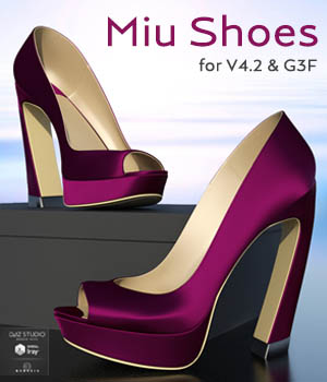 Miu Shoes for V4.2 and G3F 3D Figure Assets 3D_Style