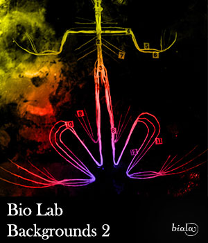 Bio Lab 2D Graphics biala