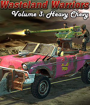 Wasteland Warriors 3: Heavy Chevy - Extended License 3D Models Extended Licenses Cybertenko