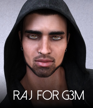 Raj for Genesis 3 Male 3D Figure Assets RedzStudio