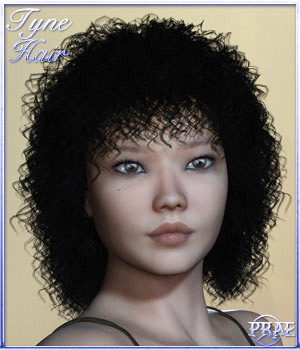 Prae-Tyne Hair for Poser 3D Figure Assets prae