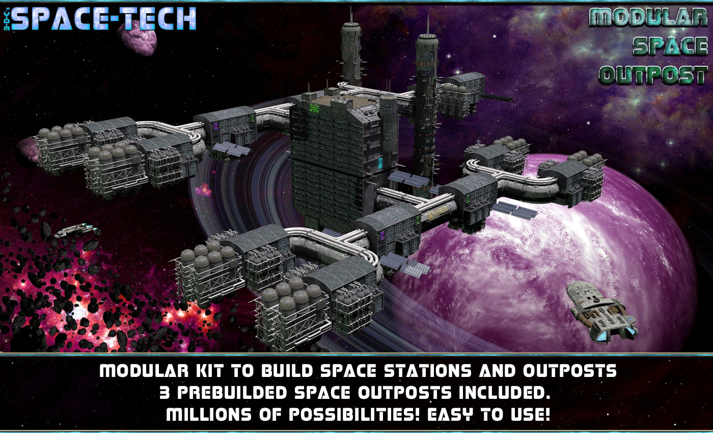 SpaceTech: Modular Space Outpost/Station Kit