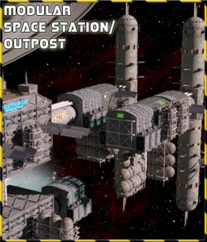 SpaceTech: Modular Space Outpost/Station Kit by 3-d-c