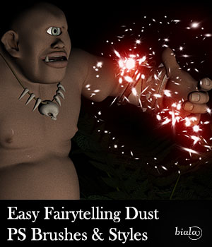 Easy Fairytelling Dust PS Brushes and Styles 2D Graphics biala
