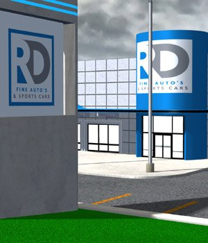 Car Dealership for Poser  3D Models VanishingPoint
