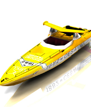 Offshore Racer in obj format - Extended License 3D Game Models : OBJ : FBX 3D Models Extended Licenses Digimation_ModelBank