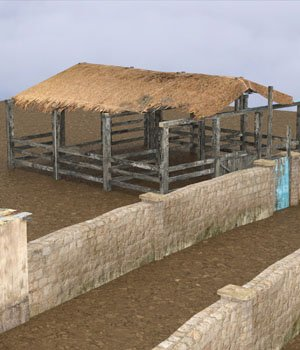 Shanty Town Buildings 2: Farm obj format - Extended License 3D Models VanishingPoint