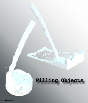 Filling Objects - Fluid Simulation 3D Models PixelDust1