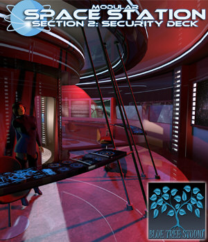 Modular Space Station 2: Security Deck 3D Models BlueTreeStudio