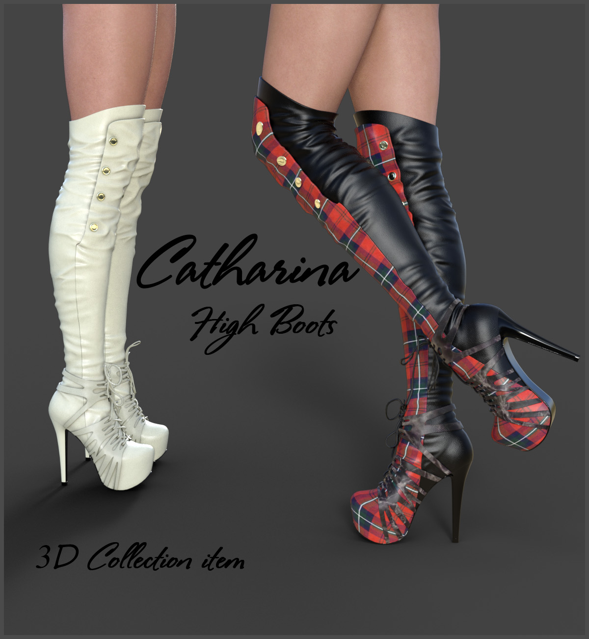 Catharina High Boots for Genesis 3 Females by Arryn