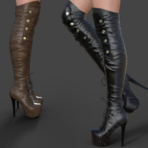 Catharina High Boots for Genesis 3 Females image 1