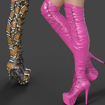 Catharina High Boots for Genesis 3 Females image 3