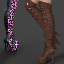 Catharina High Boots for Genesis 3 Females image 4