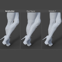 Catharina High Boots for Genesis 3 Females image 6