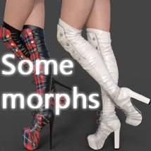Catharina High Boots for Genesis 3 Females image 7