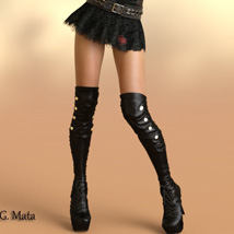 Catharina High Boots for Genesis 3 Females image 9