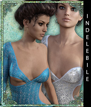 Indelebile for Infinity Dress 3D Figure Assets sandra_bonello