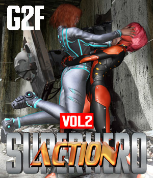 SuperHero Action for G2F Volume 2 3D Figure Assets GriffinFX