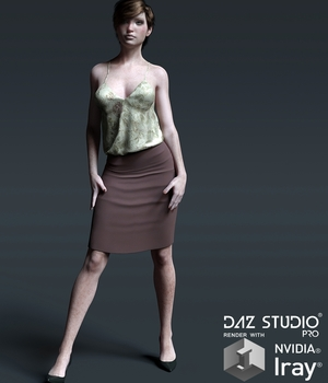 Casual Couture Outfit for G3F 3D Figure Assets Lionlady