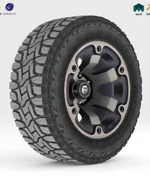 Off Road Wheel and Tire - Extended License 3D Game Models : OBJ : FBX 3D Models Extended Licenses nnavas