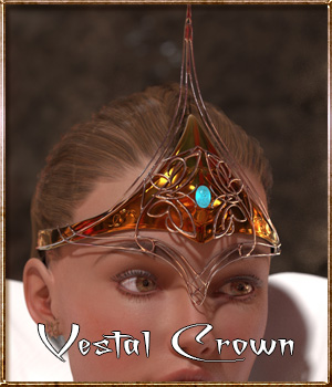 Vestal Crown 3D Figure Assets ghostman