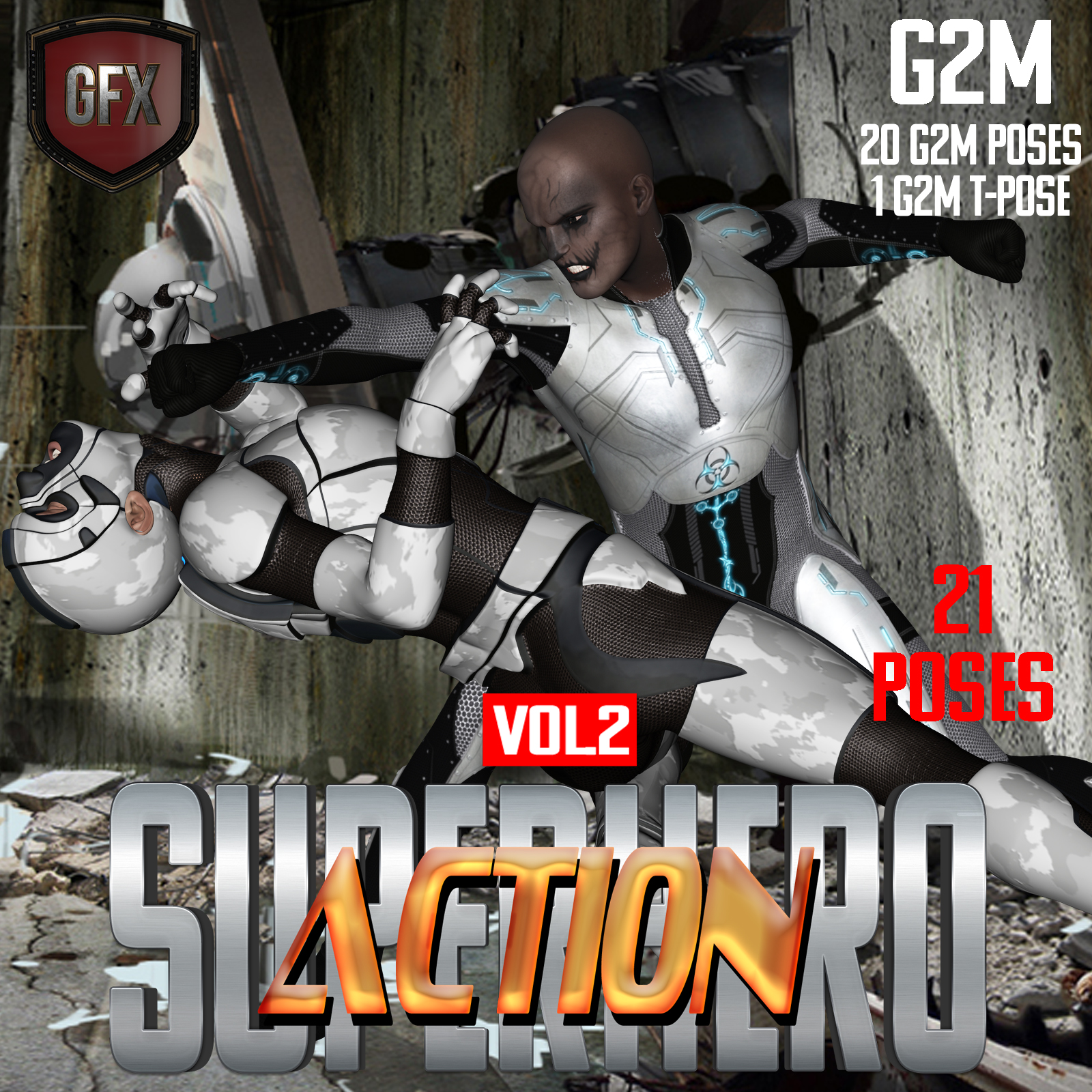 SuperHero Action for G2M Volume 2 by GriffinFX