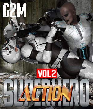 SuperHero Action for G2M Volume 2 3D Figure Assets GriffinFX