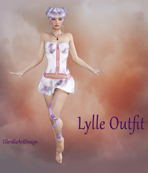 Lylle Outfit for Genesis 3 Female and V7 3D Figure Assets EllerslieArt