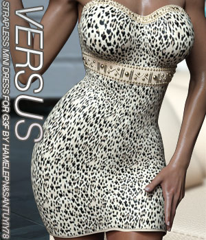 VERSUS - Strapless Mini Dress for G3 and V7 3D Figure Assets Anagord