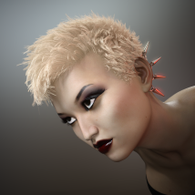 Short Cropped Hair for Genesis 3 Male and Females image 1