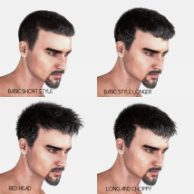 Short Cropped Hair for Genesis 3 Male and Females image 2