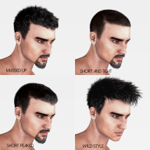 Short Cropped Hair for Genesis 3 Male and Females image 3