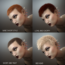 Short Cropped Hair for Genesis 3 Male and Females image 5