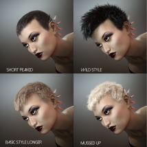 Short Cropped Hair for Genesis 3 Male and Females image 6