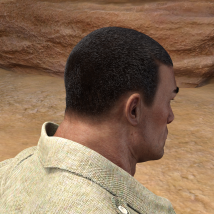 Short Cropped Hair for Genesis 3 Male and Females image 8