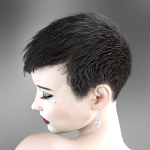 Short Cropped Hair for Genesis 3 Male and Females image 9