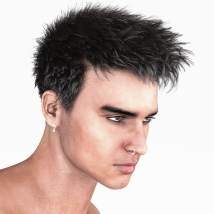 Short Cropped Hair for Genesis 3 Male and Females image 10