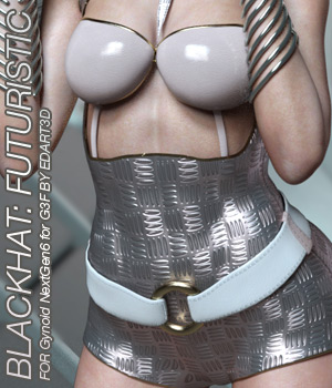 BLACKHAT:FUTURISTIC - Gynoid NextGen6 for G3F 3D Figure Assets Anagord