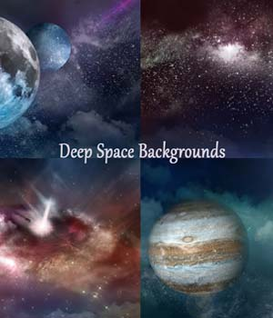Deep Space Backgrounds 2D Graphics EllerslieArt