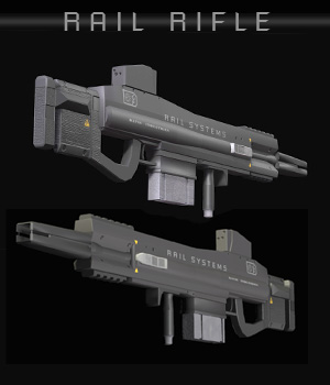 Rail Rifle 3D Models shawnaloroc