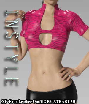 InStyle - X-Fashion Faux Leather Outfit2 for Genesis 3 Females 3D Figure Assets -Valkyrie-