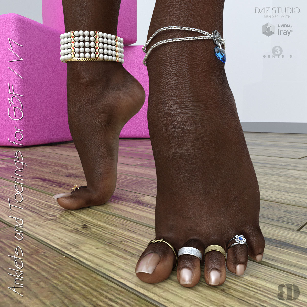 Anklets and Toerings for G3F/V7 by bigdreams