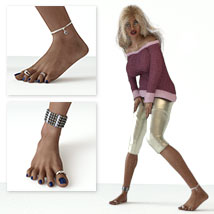 Anklets and Toerings for G3F/V7 image 1