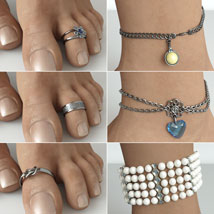 Anklets and Toerings for G3F/V7 image 3